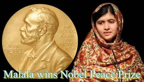 Nobel Peace Prize Winners 2014 Malala, Nobel, prize, ...