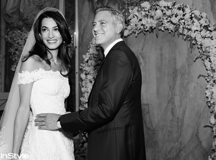 George Clooney and Amal Alamuddin during the George Clooney and Amal Alamuddin Wedding in Venice, Italy September 27th, 2014