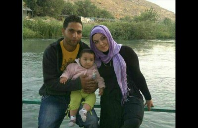 Rana Fliti and Ali Bazzal and their daughter Maram (Photo courtesy of Rana Fliti) -