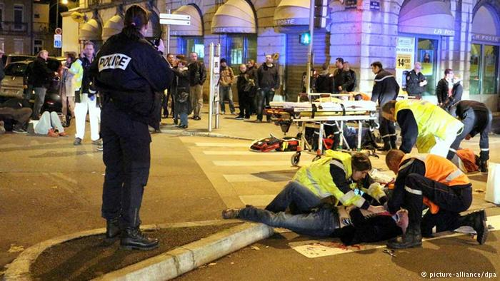 """Site where a driver shouting """"Allahu Akbar"""" ploughed into a crowd (AFP Photo/Arnaud Finistre)"""