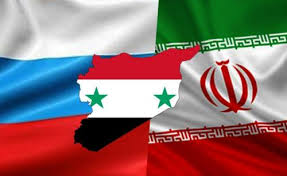 Russia, Iranian and  Syrian flags