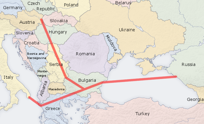 russia's south-stream pipe line