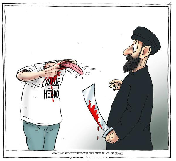 cartoon after the paris massacre