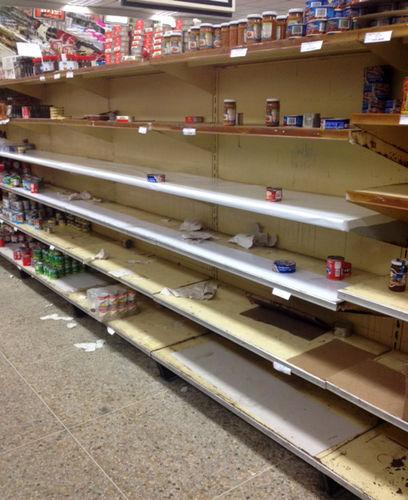 Venezuela Supermarket Lines Swell