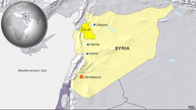 syria map idlib