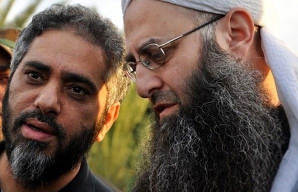 Radical Salafist cleric Ahmad al-Assir and  singer Fadel Shaker,