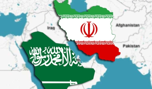 saudi iran map