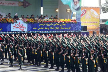 Iran's revolutionary guard parade.