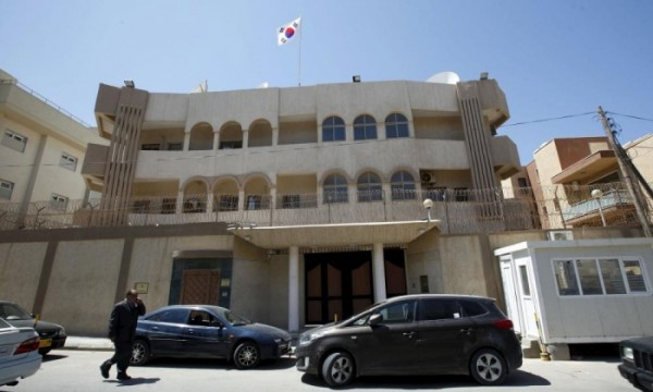 The South Korean embassy   was attacked by gunmen in Tripoli on Sunday. Photograph: Ismail Zitouny/REUTERS