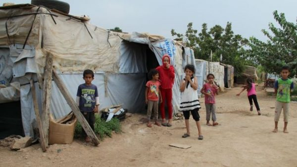 About 1.5 million refugees have fled from Syria to Lebanon and the number keeps rising as the war escalates