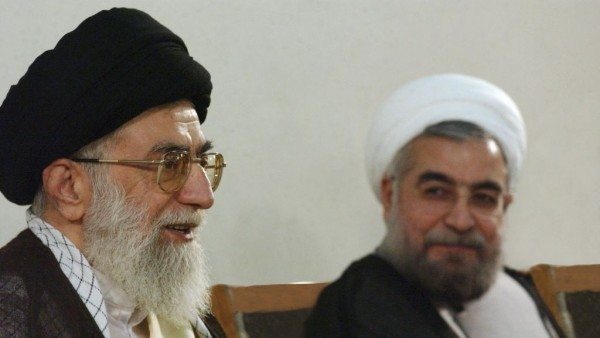 "File photo of Iran's Supreme Leader, Ayatollah Ali Khamenei (L) with president Rouhani. According to Iran's Constitution, the Supreme Leader is responsible for supervision of ""the general policies of the Islamic Republic of Iran,"" which means that he sets the tone and direction of Iran's domestic and foreign policies. The Supreme Leader also is commander-in-chief of the armed forces and controls the Islamic Republic's intelligence and security operations; he alone can declare war or peace. He is also the supreme commander of the Islamic Revolutionary Guard Corps. While Khamanei was appointed and supervised by the Assembly of Experts, Rouhani was is his subordinate was elected directly by the people of Iran"