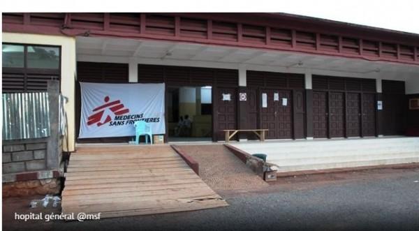 l'Hôpital Général  in  BANGUI