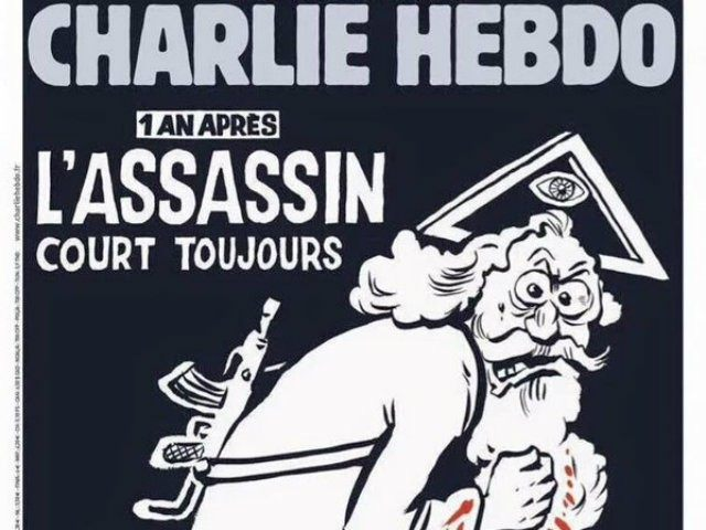 French Satirical weekly Charlie Hebdo is preparing one million copies of a special edition to mark the anniversary of the deadly Islamist attack on its offices with a cover featuring a bearded man with a gun, representing God.