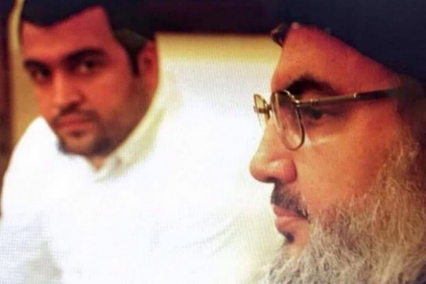 File photo: Hezbollah chief Hassan Nasrallah is shown in this undated photo with his son Jawad