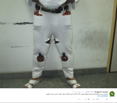 SMUGGLING BOOZE IN KSA