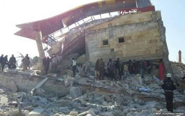 The hospital in Idlib province was targeted in an airstrike that one rights group said was 'presumably Russian'