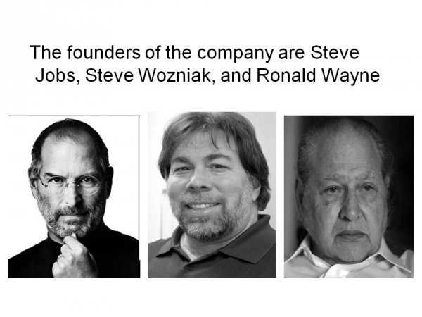 Apple Founder S : How would you feel if apple stake sold for was