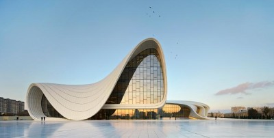 Heydar Aliyev Center in Baku, Azerbaijan - Courtesy Zaha Hadid Architects