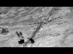 isis convoy  iraq hit by us airstrike