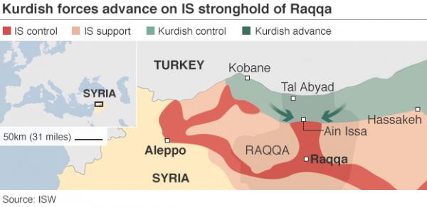 raqqa, syria, map