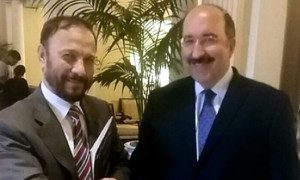 File photo: Dore Gold and Anwar Majed Eshki