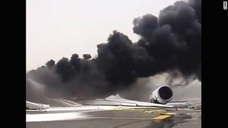 emirates-plane catches fire-