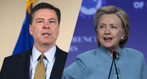 Hillary Clinton and FBI Director James Comey