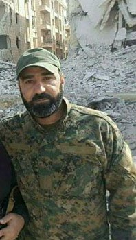 Hezbollah commander Ali Hassan Murshid al Miqdad who  was killed in Aleppo on November 14