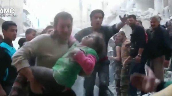 Aleppo children's hospital hit in Airstrike