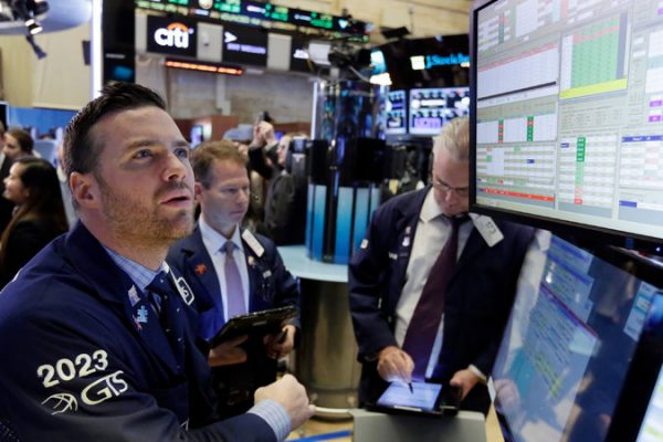 On the floor of the New York Stock Exchange on Monday. Credit Richard Drew/Associated Press