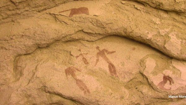 Italian researchers have discovered what might be the oldest nativity scene ever found — 5,000-year-old rock art that depicts a star in the east, a newborn between parents and two animals.