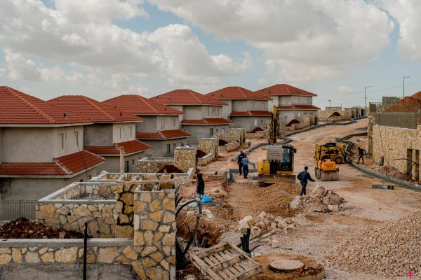 Construction at an Israeli settlement in the West Bank in 2015. Credit Tomas Munita for The New York Times