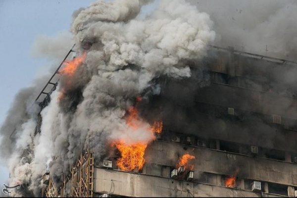 Tehran fire: Iconic Plasco building collapses killing 30 firefighters, state media reports