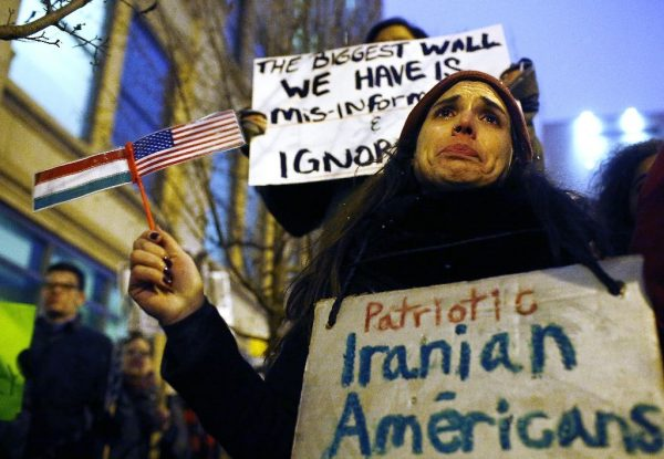 Members of the Iranian-American community have expressed shock and disbelief at President Donald Trump's travel ban, saying it would tear families apart and tarnish America's image abroad (AFP Photo/Joshua LOTT)