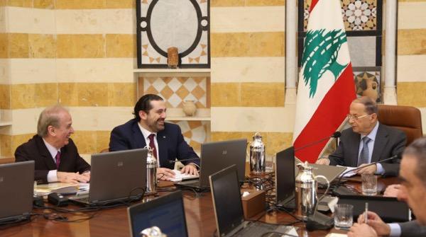 cabinet meeting aoun hariri