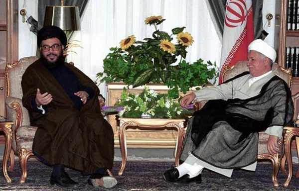 Hezbollah leader   Hassan Nasrallah  (L) mourned on Monday former Iranian President Akbar Hashemi Rafsanjani - file photo