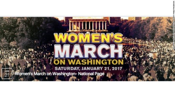wome's march against Trump