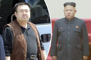Kim Jong Nam ( L) and half brother  Kim Jong Un
