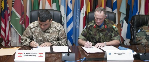 UNIFIL and Lebanon sign the agreement that transfers UN assets to Lebanon's general security