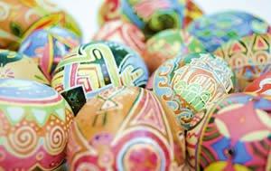 Lebanon orthodox easter eggs