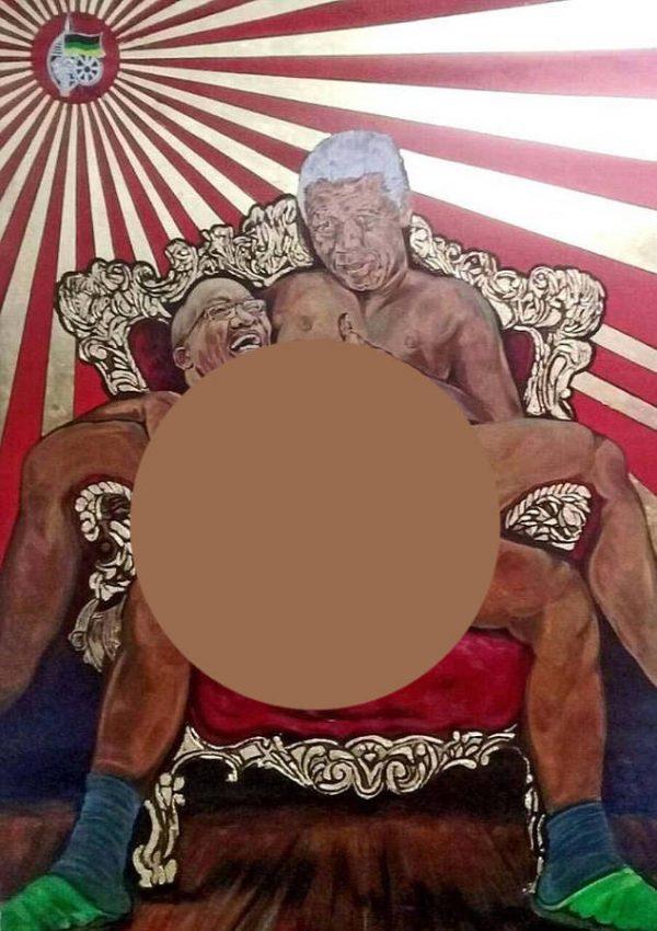 Zuma-Raping-Nelson-Mandela painting