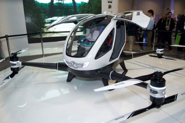 This Chinese-made Ehang flier will start flying Dubai commuters by remote control in July