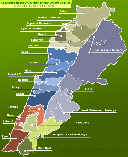 lebanese-elections-1960-law map