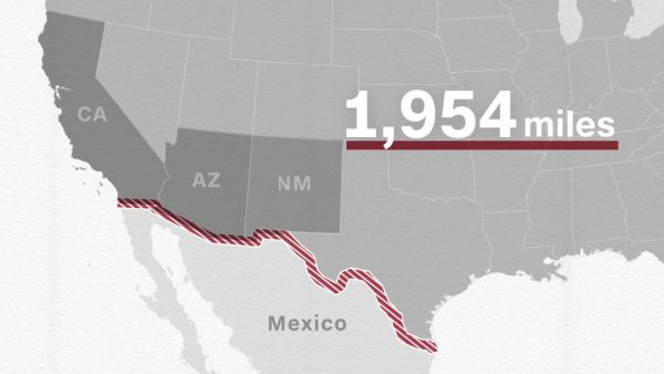 Trump Now Wants The Democrats Not Mexico To Fund The Border Wall - Mexico us border wall map