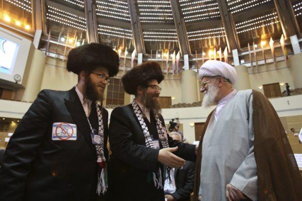 Ultra-Orthodox Jewish Rabis greet Iranian Ayatollah in Tehran