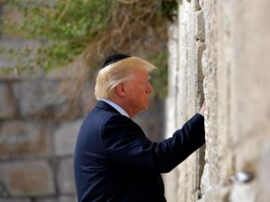 Donald Trump visits the Western Wall in Jerusalem's Old City on May 22, 2017 MANDEL NGAN/AFP/Getty Images