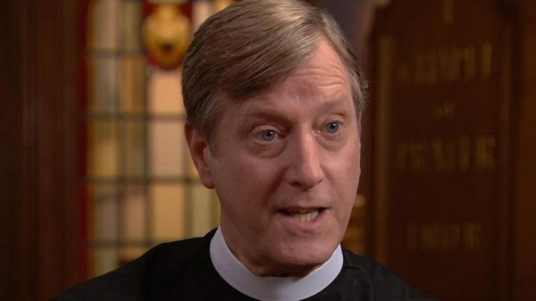 Rev. Robin Hynicka and his congregation are providing shelter to an illegal immigrant. CBS NEWS