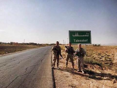 Chaldean Assyrian military volunteers protecting Telsskef in northern Iraq from ISIS