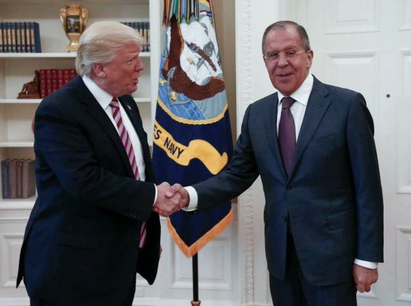 President Trump welcomed Russia's foreign minister and U.S. ambassador to the White House.