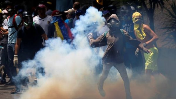 Tens of thousands of people rallied to demand new presidential elections and the release of jailed opposition politicians. Mr Maduro accused the opposition of attacking police.